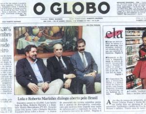 O espertalhão do Lula se vende à Globo e suas amantes traídas culpam a mim