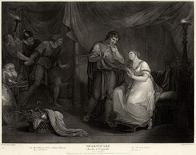 Troilus and Cressida, Act V, Scene II. 1795 engraving by Luigi Schiavonetti after a painting of 1789 by Angelica Kauffman