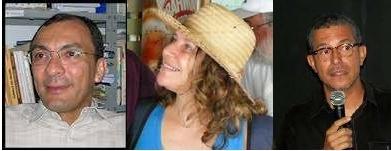 A trinca no banco dos réus da Justiça Federal: Giovandro Ferreira, Annamaria Palacios e José Mamede
