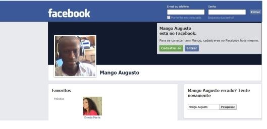 Apesar de página no facebook estar ativa, Augusto Mango não posta nada desde 2012