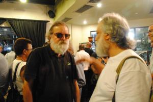 Com Marcio Meirelles, então titular da Secretaria de Cultura do Estado, em noite de autógrafos no Vila Velha em 2012