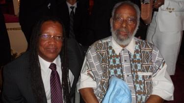 João Jorge ao lado de Abdias Nascimento em visita de Barack Obama ao Brasil