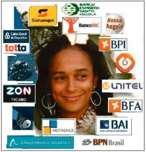 """No Brasil, Isabel Santos se aventurou até mesmo no """"incentivo"""" a uma rede de televisão que fracassou, a TV da Gente, à frente o cantor Netinho de Paula"""