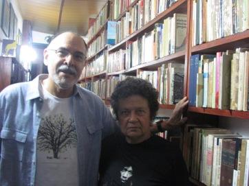 """George Yúdice, um dos mais respeitados pesquisadores de cultura, na """"República"""" da incômoda Aninha Franco, em recente encontro documentado por este escrevinhador"""