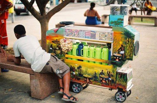 Foi com o concurso de Dimitri que os ambulantes de cafezinho sentem-se estimulados a inovar em seus carrinhos