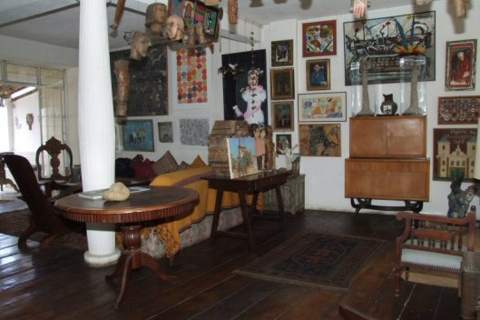Interior do Solar do Santo Antônio, a casa-museu do colecionar