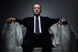 Frank Underwood, personagem de Kevin Spacey na série televisiva House of Cards
