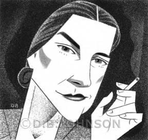 Mary McCarthy, escritora, em ilustração de D. B. Johnson