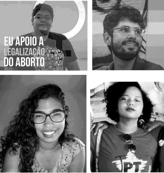 """Os """"ativistas"""" a serem ouvidos pela Polícia Federal (de cima, a partir da esquerda): Mariana Buente, Mateus"""