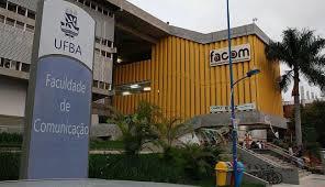 O prédio da Facom no campus UFBA do bairro de Ondina
