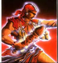 Uma das representações estilizadas de Exú, o mensageiro
