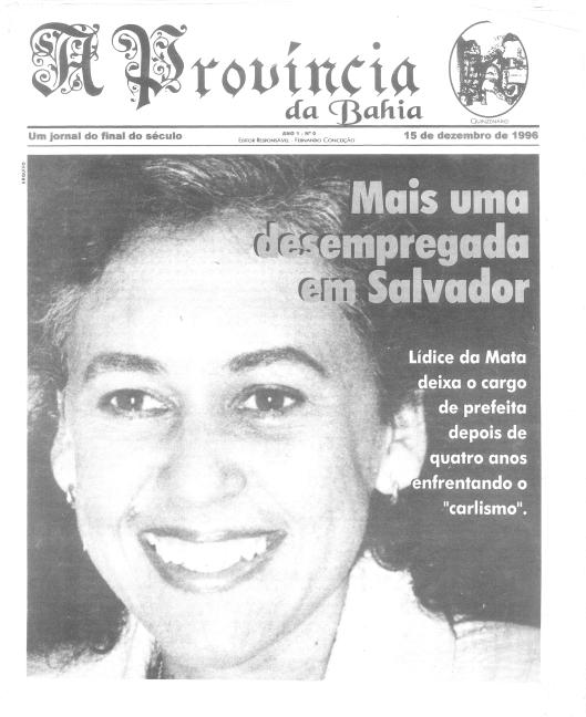 Número Zero da Província, em projeto gráfico de Valentina Garcia, com Lídice na capa