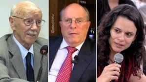 Hélio Bicudo (fundador do PT), Miguel Reale Jr e Janaína Paschoal: juristas autores da ação de impeachment protocolada no Congresso ano passado