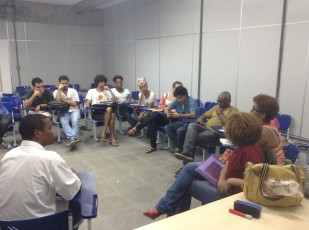 Uma das diversas reuniões preparatórias da atividade, realizadas na Facom/UFBA