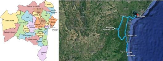 De Salvador ao sul e baixo-sul baianos: Ilhéus-Olivença, Camamu, Wenceslau Guimarães e de volta a Salvador na tarde de 16/10