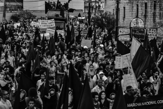 Marcha da campanha Reaja! denuncia a matança da juventude negra na Bahia de hoje, como de ontem e de sempre